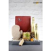 Next Bubbles And Scrub Prosecco Gift Box From Le Bon Vin - Gold