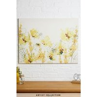 Next Artist Collection Summer's Day by Nicola Evans Canvas - Yellow