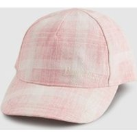 Girls Next Pink/Cream Check Cap (Older) - Pink