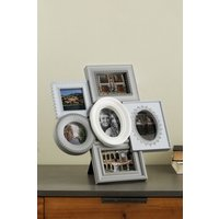 Next Delicate Lace 6 Aperture Frame - Grey