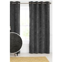 Next Soft Velour Eyelet Lined Curtains - Grey