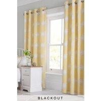Next Nostalgia Floral Blackout Eyelet Curtains - Yellow