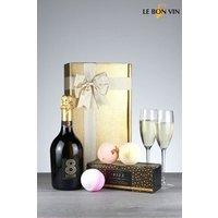 Next Prosecco And Bathbomb Bubbles Gift Box - Gold