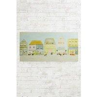 Next Artist Collection Village Life By Hannah Cole Canvas - Green