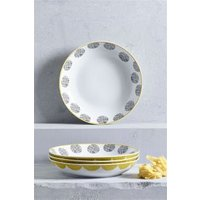 Next Set of 4 Pendle Pasta Bowls - Yellow