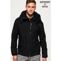 'Mens Superdry Technical Pop Zip Hooded Sd-windcheater Jacket -  Black