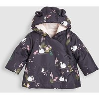 Girls Next Charcoal Swan Printed Jacket (0mths-2yrs) - Grey