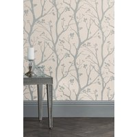Next Paste The Wall Silver Woods Wallpaper - Silver