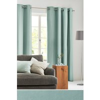 Next Eyelet Lined Cotton Curtains - Teal