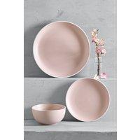 Next 12 Piece Hutton Dinner Set - Pink