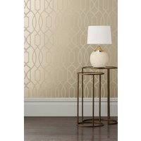 Next Paste The Wall Lattice Surface Print Wallpaper - Gold