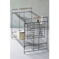 Next 2 Tier Galvanised Dish Drainer - Silver