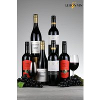 Set of 6 Le Bon Vin World Shiraz Red Wine Selection - Red