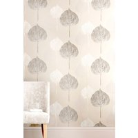 Next Paste The Wall Tranquil Leaf Wallpaper - Natural