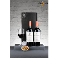 Next 2 Bottles Chilean Red Reserva Wine Gift Box - Red