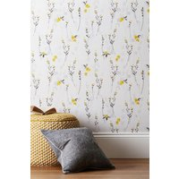 Next Paste The Wall Eden Floral Wallpaper - Yellow