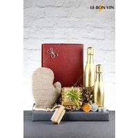 Le Bon Vin Bubbles And Scrub Prosecco Gift Set - Gold