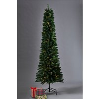 Next 150 LED Slim Pine 7ft Christmas Tree - Green