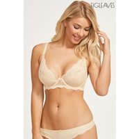 Womens Figleaves Juliette Lace Underwired Non-Pad Bra - Nude