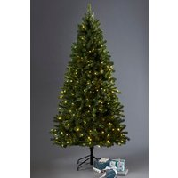 Next 300 LED Woodland Pine 7ft Christmas Tree - Green
