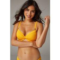 Womens Next Orange Texture Shape Enhancing Bikini Top - Orange