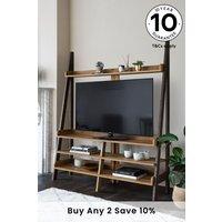 Next Bronx Superwide TV Ladder Shelf - Natural