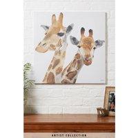 Next Artist Collection Giraffes by Julia Burns Canvas - Orange