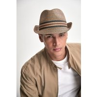 Mens Next Brown Trilby - Brown