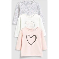 Girls Next Pink/Grey Animal Print T-Shirts Three Pack (0mths-2yrs) - Pink