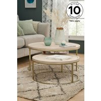 Next Amsterdam Light Coffee Table Nest - Natural