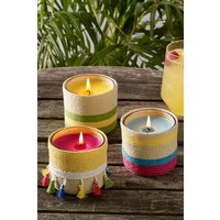 Next Set of 3 Guava and Lychee Citronella Candles - Yellow