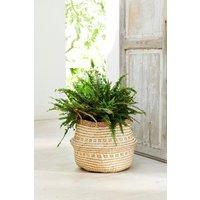 Next Large Woven Basket Planter - Natural