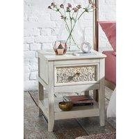 Next Safi Light Bedside Table - White