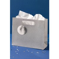 Next Silver Glitter Gift Bag - Silver