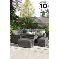 Next Monaco Slim Living And Dining Table Garden Set