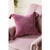 Next Velvet Tassel Cushion - Purple