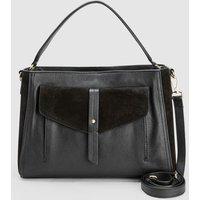Womens Next Black Leather Formal Tote Bag - Black