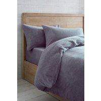 Next Super Soft Fleece Duvet Cover And Pillowcase Set - Purple