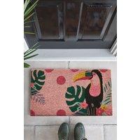 Next Toucan Doormat - Pink