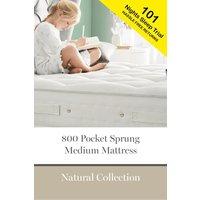 Next 800 Pocket Sprung Natural Medium Mattress - White