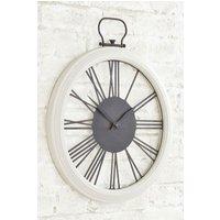 Next Wooden Wall Clock - Cream