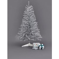Next Silver Tinsel 3ft Christmas Tree - Silver