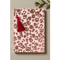 Next Leopard Print Notebook - Pink