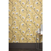 Next Paste The Paper Graphic Floral Wallpaper - Yellow