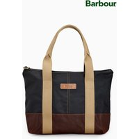 Womens Barbour Navy Red Ashridge Small Tote Bag - Red