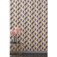 Next Paste The Wall Gold Triangle Wallpaper - Gold