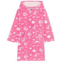 Girls Cath Kidston Pink Mono Mermaids Hooded Towel - Pink