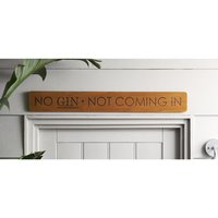 Next No Gin Wooden Wall Plaque - Brown