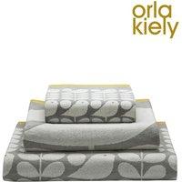 Orla Kiely Early Bird Towels - Grey