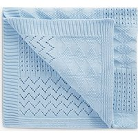 Boys Next Blue Knit Blanket (Newborn) - Blue
